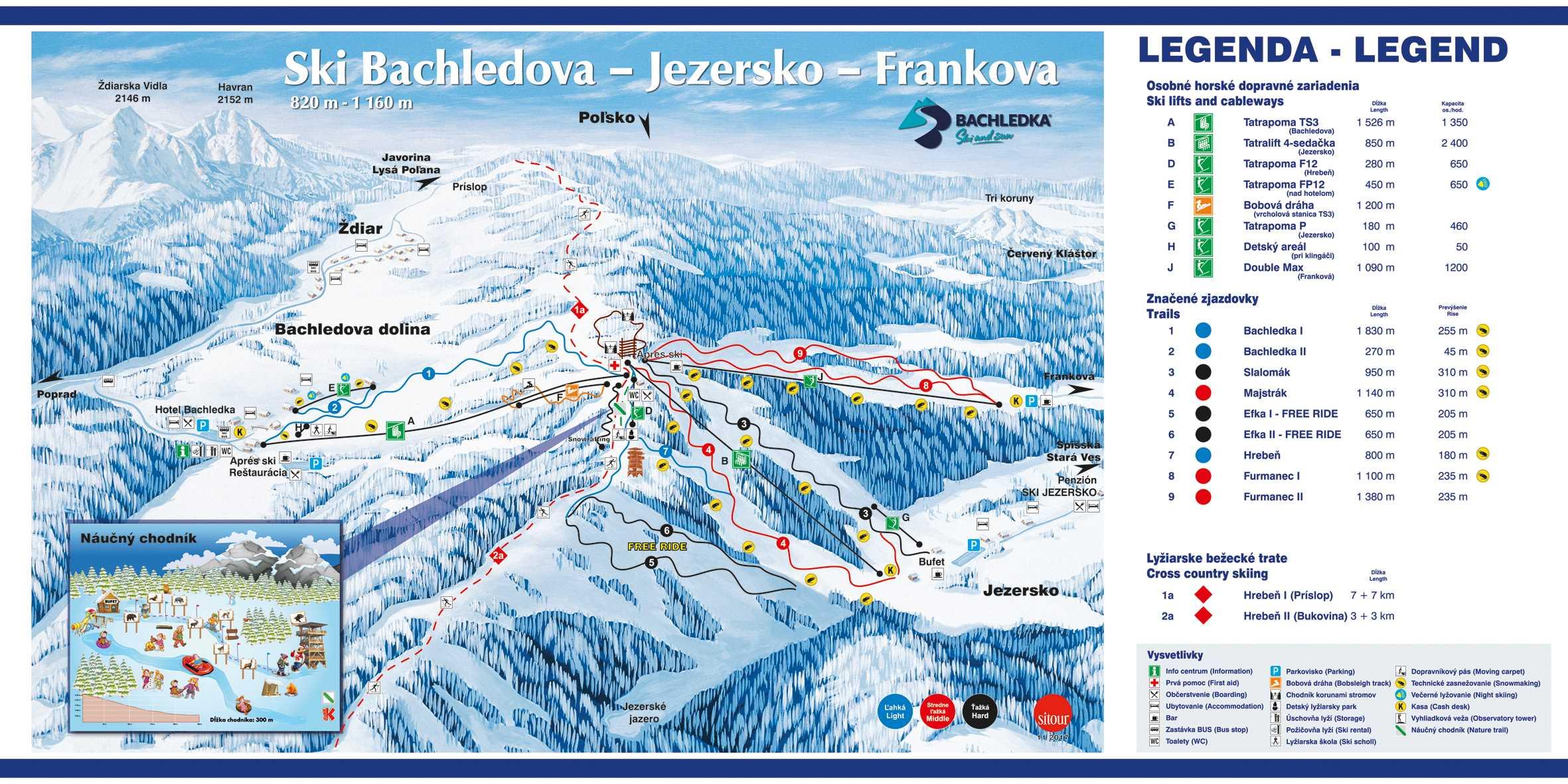 lyziarska mapa bachledka zima 2017