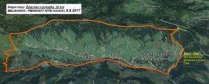 trasa MTB 20 km mapa 2017