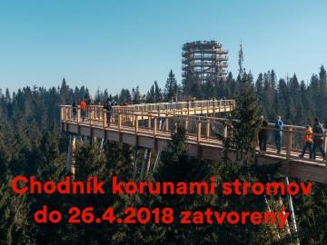 Treetop walk until 26.4.2018 closed