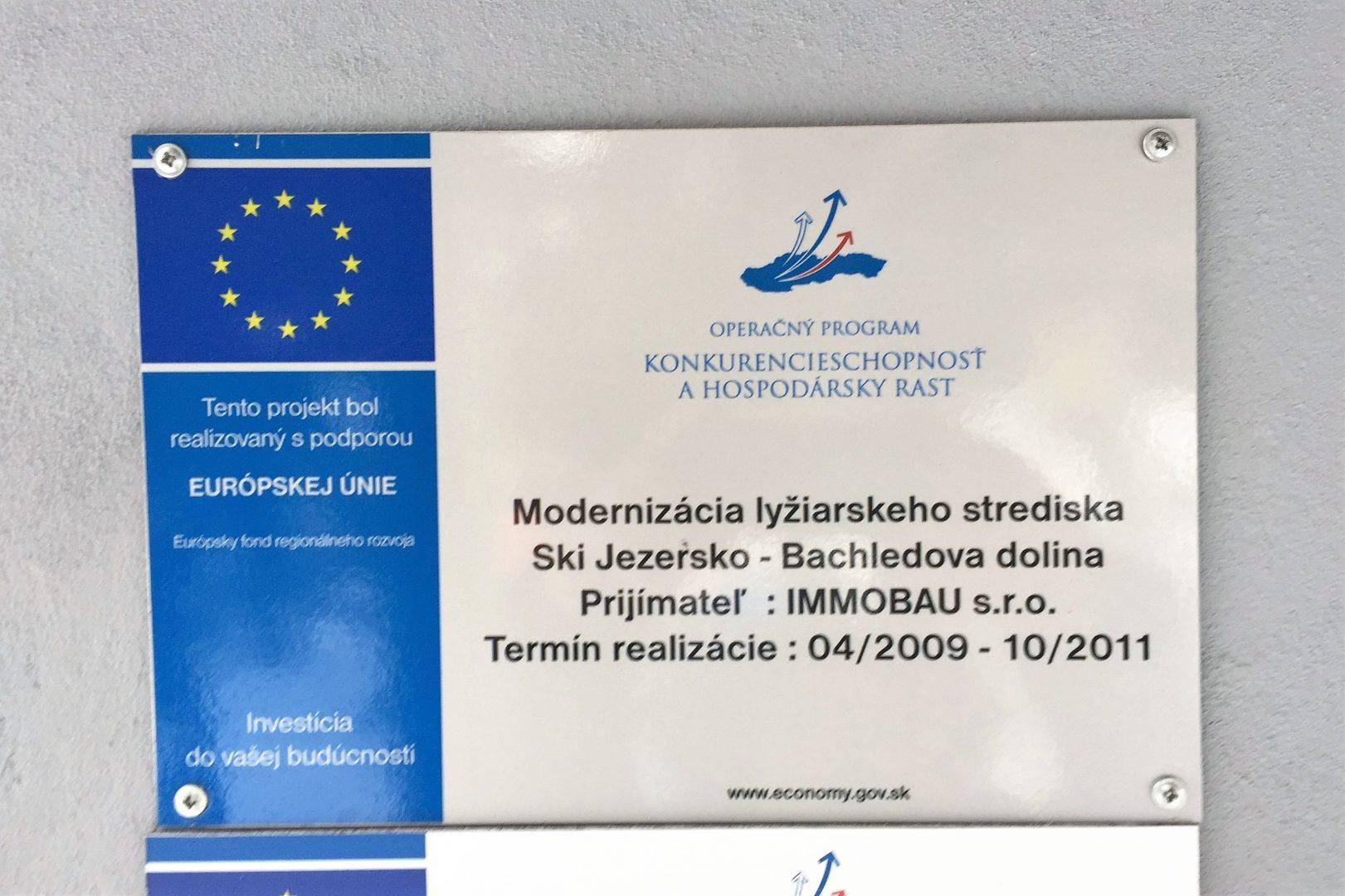 Projekt bachledka EU 1