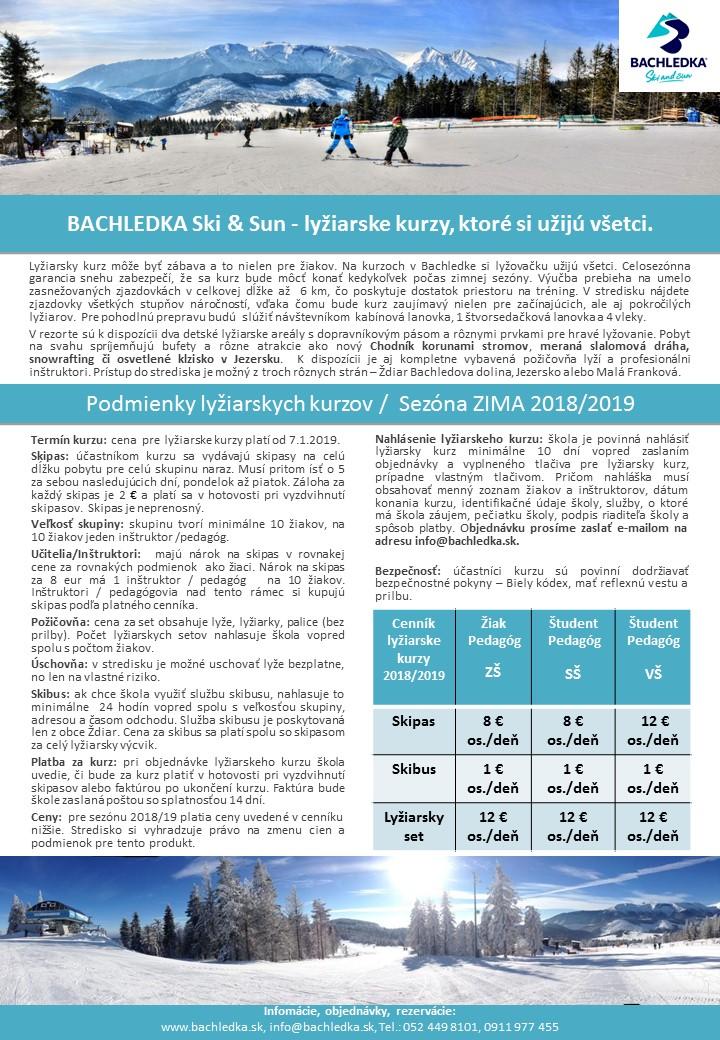 Lyžiarske školské kurzy - Bachledka f06c799c773