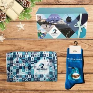 darčekový balíček pre lyžiara
